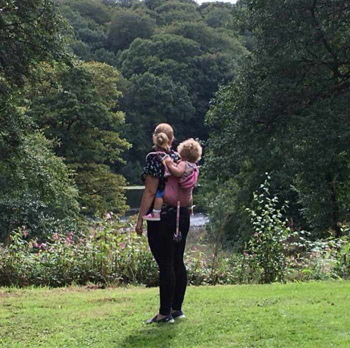 Baby-wearing-in-the-park