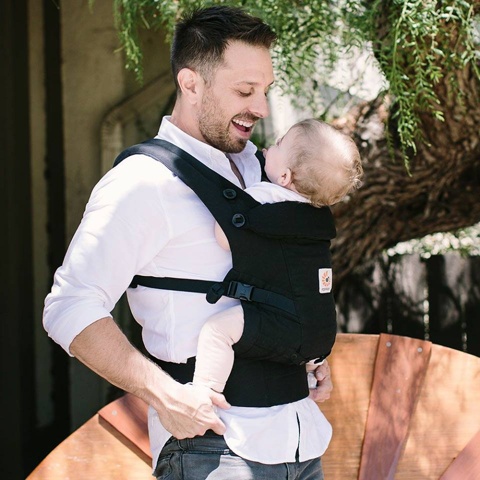 Dad with baby sling